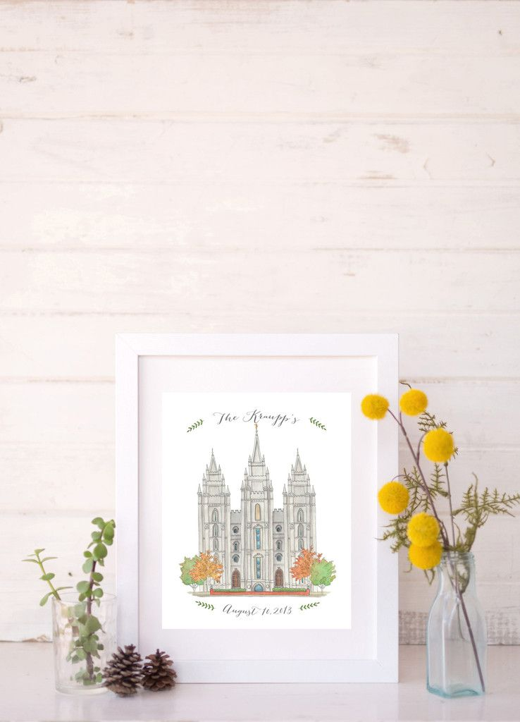 Add A Custom Phrase Name Date Or Message To Any Lds Temple Print