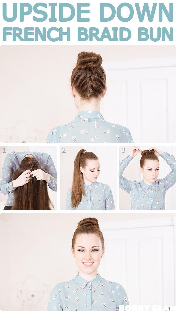 #french #braid #bun #tutorial