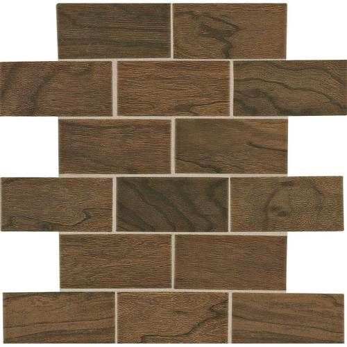 Guest Bath Shower Floor Tile Shower Niche And Decorative Band Daltile Emblem Brown 2x4 Daltile Shower Floor Tile Tiles