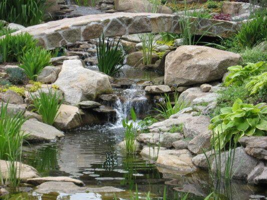 Backyard Waterfall Designs Minimalist Design With Water Garden