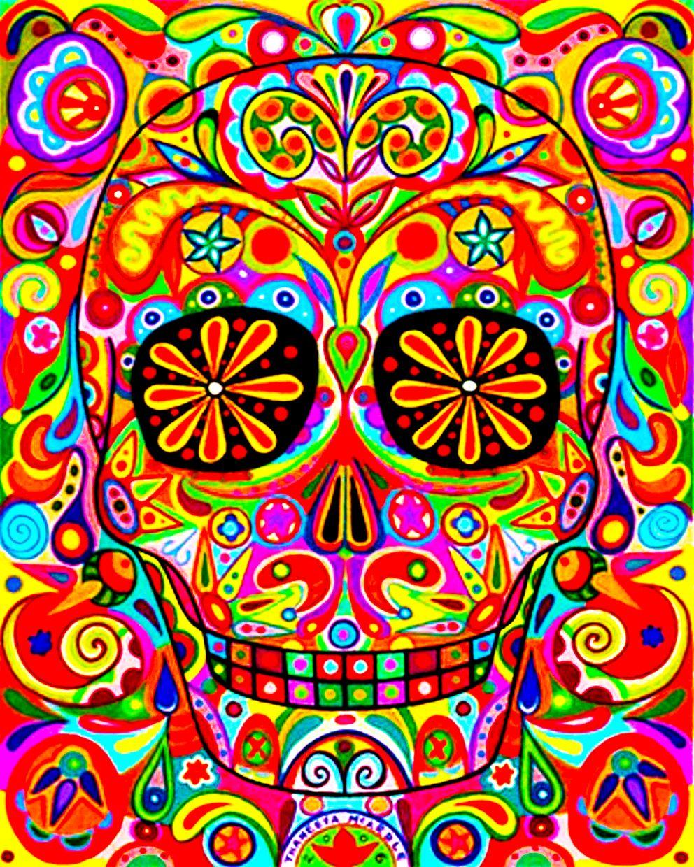calavera mexicana | Dibujos /patterns | Pinterest ...