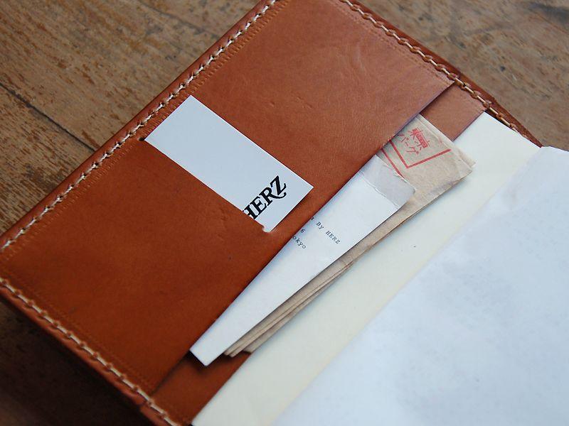 ほぼ日手帳カバー(IL-104)はイタリアンレザーを使用したシンプルな革の手帳カバー「HERZ(ヘルツ)公式通販」