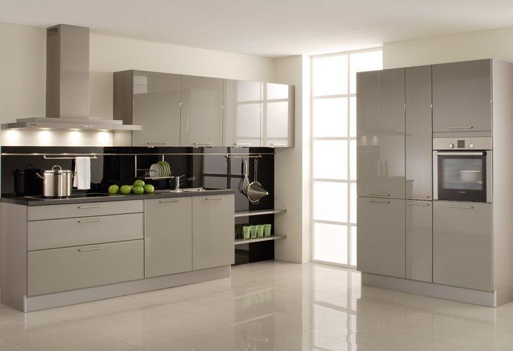 Küche in Grau #Küchenzeile wwwdyk360-kuechende Graue Küchen