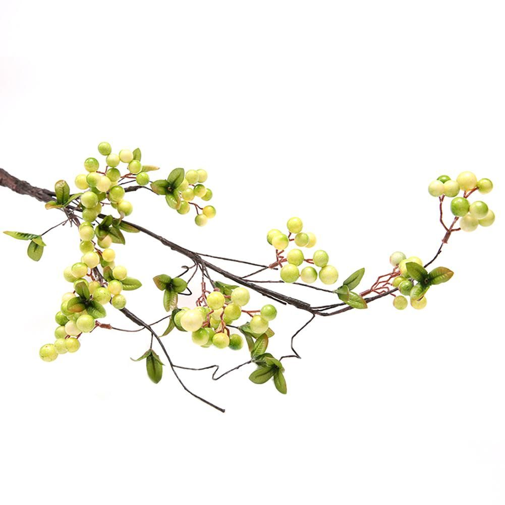 Photo of 1Pc Artificial Branch Berry Garden DIY Party Home Holiday Xmas Craft Decoration – White&Green