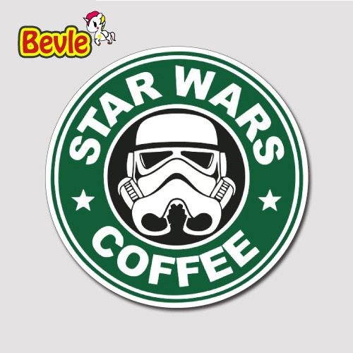 Bevle 2357 star wars starbuck coffee sign tide waterproof stickers laptop luggage fashion car graffiti cartoon