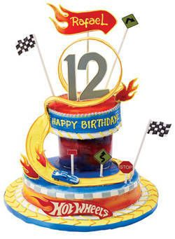 Excellent Red Ribbon Cake And Cupcakes Packages Hot Wheels Cake Cupcake Funny Birthday Cards Online Inifofree Goldxyz