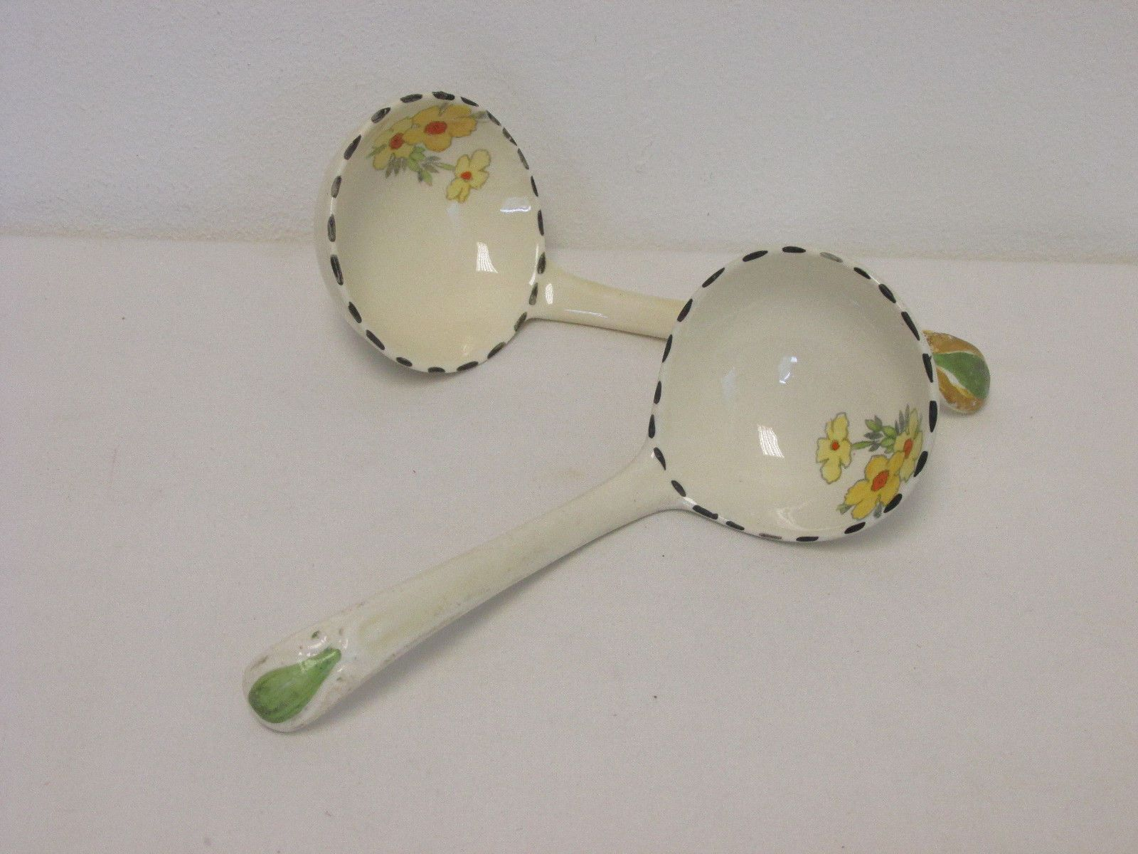 Vintage 1930s Burleigh Ware Golden Days Pair Of Ceramic Ladles Or Serving Spoons Ebay Aug 2017 Gbp20 Bin Serving Spoons Vintage 1930s Vintage