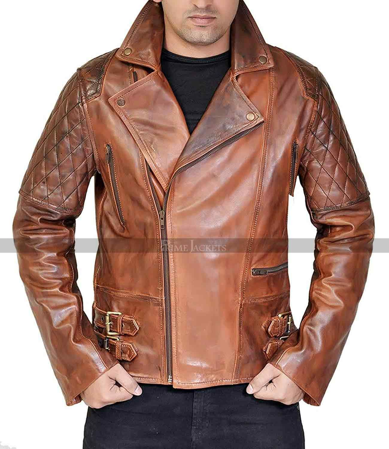 Classic Brando Diamond Vintage Cafe Racer Mens Waxed Distressed Brown Motorcycle Leather Jacket Distressed Leather Jacket Stylish Leather Jacket Leather Jacket [ 1500 x 1300 Pixel ]