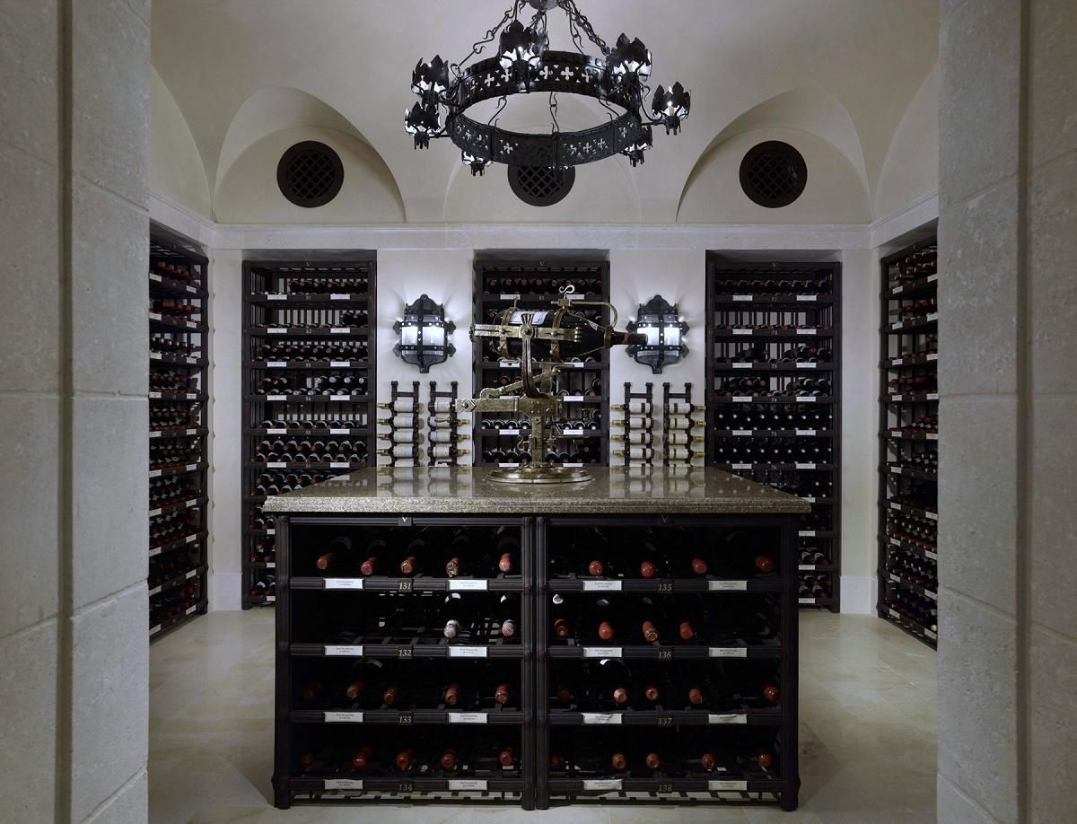 billionaires row waterfront estate wine cellar | Wine cellar ...