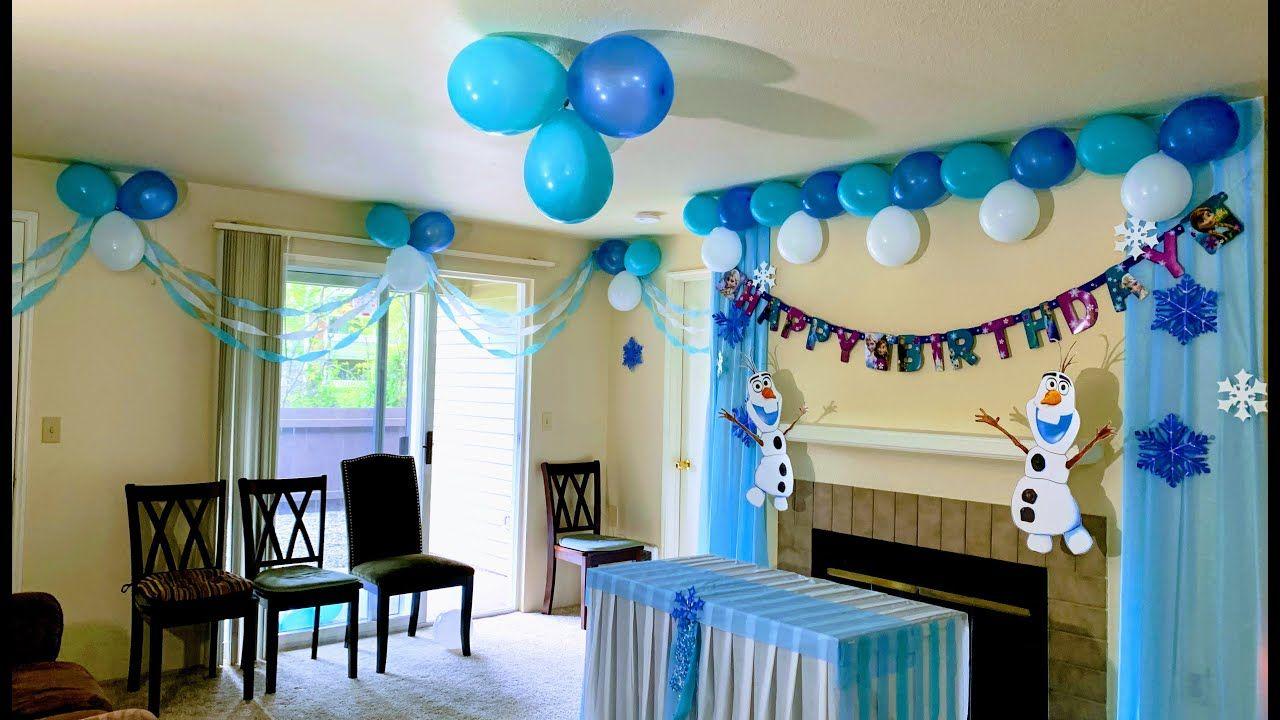 Disney Frozen Theme Party Decoration Ideas Elsa Birt