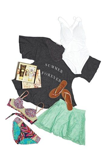 Everything you need for a day at the beach http://rstyle.me/n/eey6cnyg6