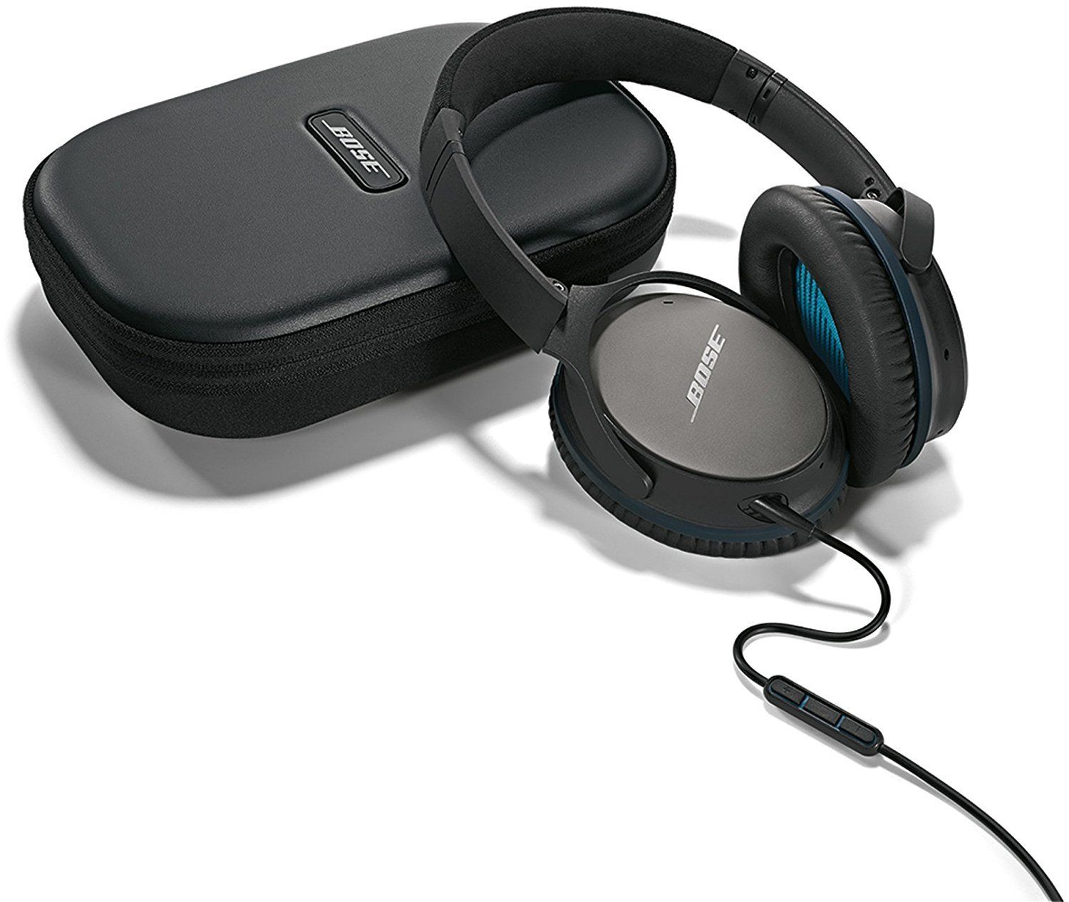 Bose Quietcomfort 25 Acoustic Noise Cancelling Headphones For Apple Devices Black Wired 3 5mm Ac Travel Headphones Noise Cancelling Headphones Headphones