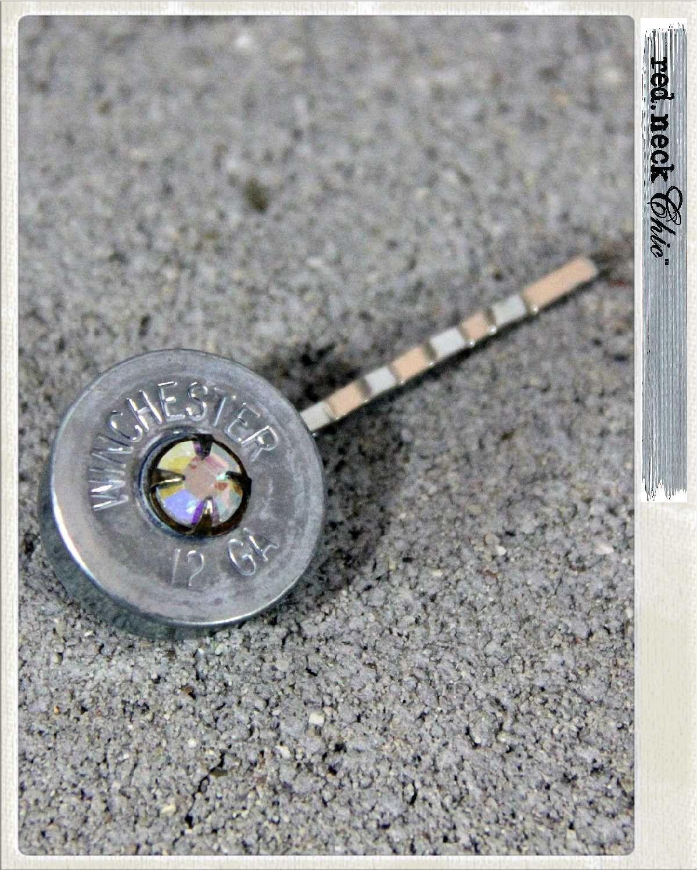 sparkle it: shotgun shell bobby pin / hair clip. $17.00, via Etsy.