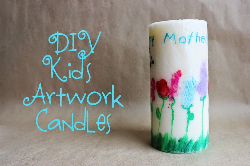 Craft-e-Corner Blog * Celebrate Your Creativity: DIY Kid's Art Work Candles for Mother's Day