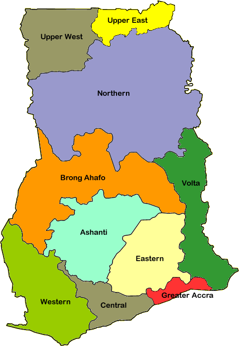 Image Result For Regions Of Ghana Geografia
