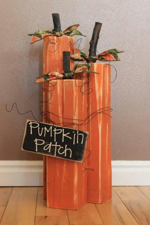 Wood Pumpkins Crafty Stuff Pinterest Wood Pumpkins Woods And