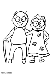 Grandparent S Day Coloring Pages Printable For Free Portale Bambini Coloring Pages Cute Coloring Pages Grandparents Day