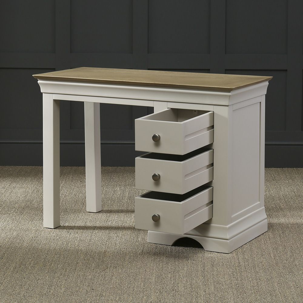 Grey french country bedroom french country grey painted oak  drawer dressing table desk