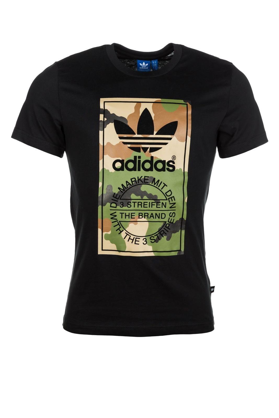 adidas Originals Camo Label Tee Black in 2019 | Adidas camo
