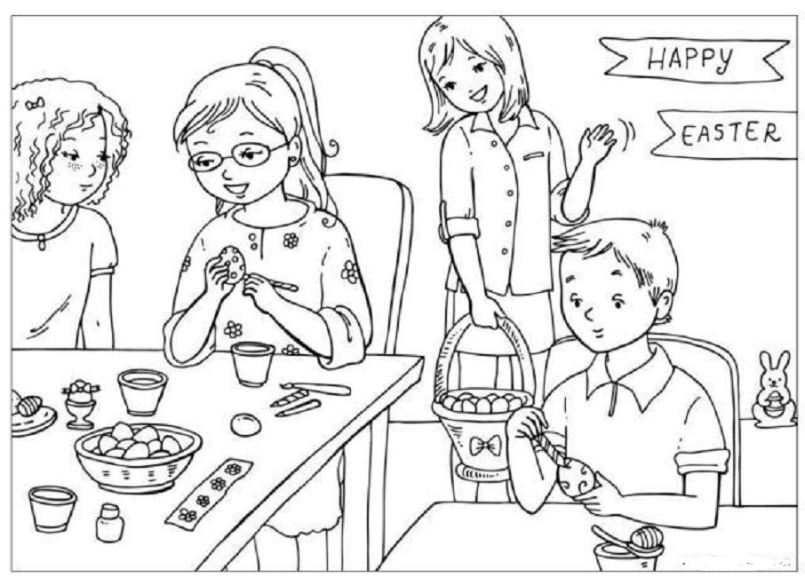 easter coloring pages activity village