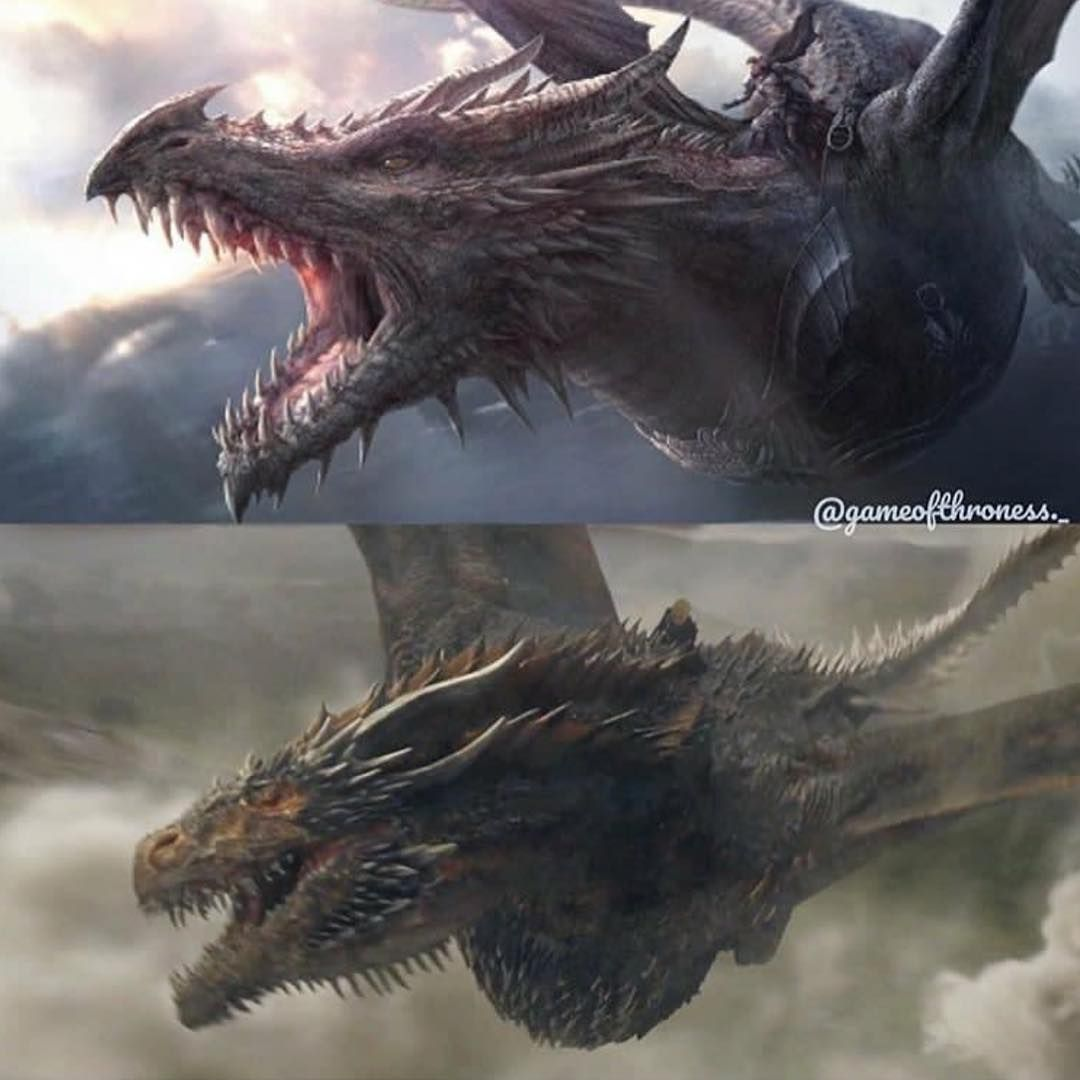 Balerion the Black Dread (the largest Targaryen dragon) vs
