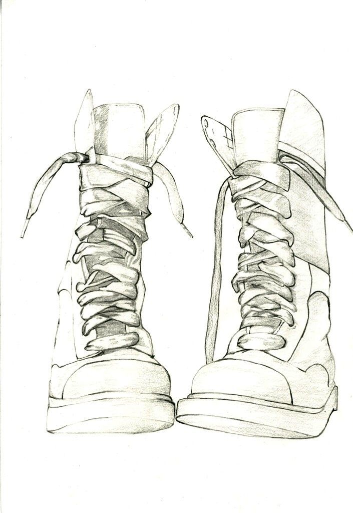 Items similar to Original pencil drawing of Doc Marten Boots. Study of boots no.6 - Original drawing by Jennifer Bennett. on Etsy #clothesdrawing