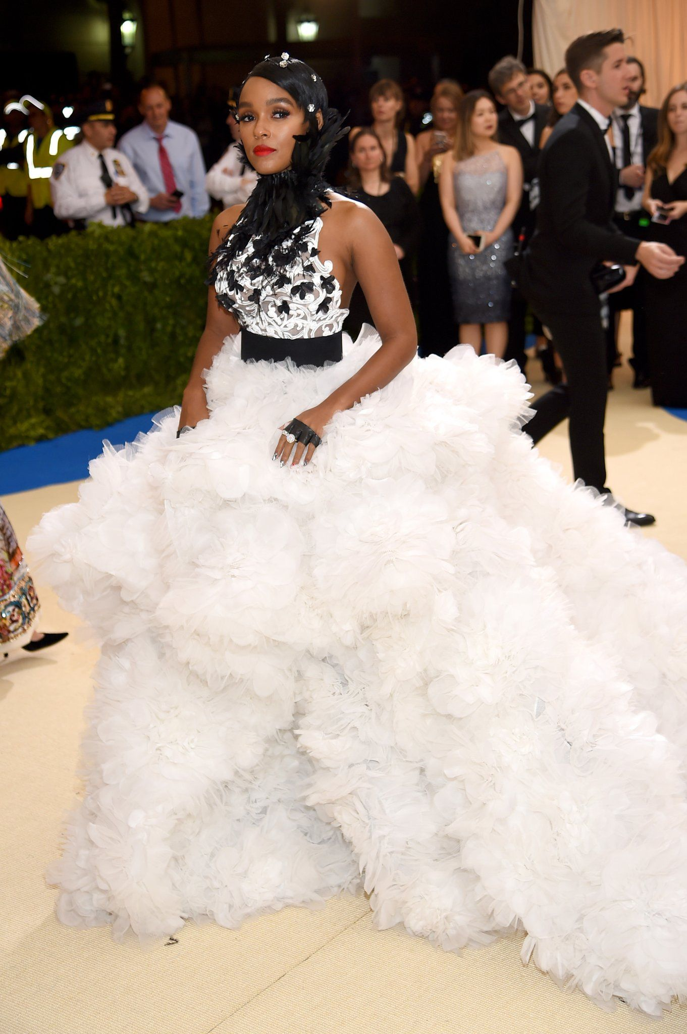 Janelle Monae at the Met Gala. May 2, 2017.