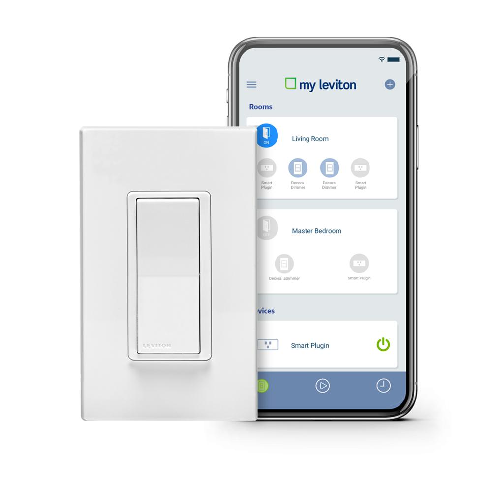 Leviton Decora Smart Wi Fi 15a Led Switch No Hub Required Works With Alexa Google Assistant And Nest 5 Pack Vb5 Dw15s Hd5 Led Dimmer Works With Alexa Alexa Device