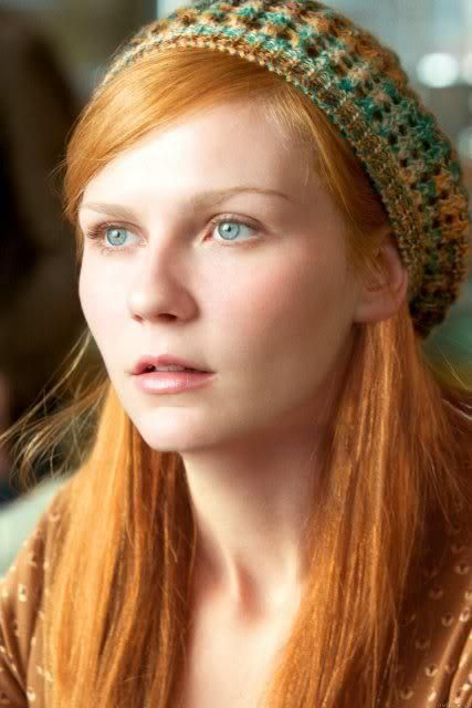 Kirsten Dunst ... I actually liked her with red hair