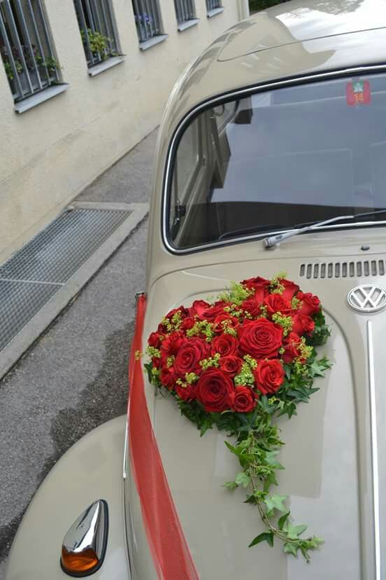 Rote Rosen Car S Decoration Pinterest Wedding Cars Wedding