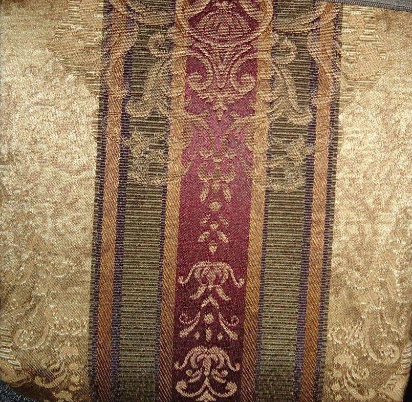 Croscill Shower Curtain Townhouse Dover Manor Gold Stripe Fabric