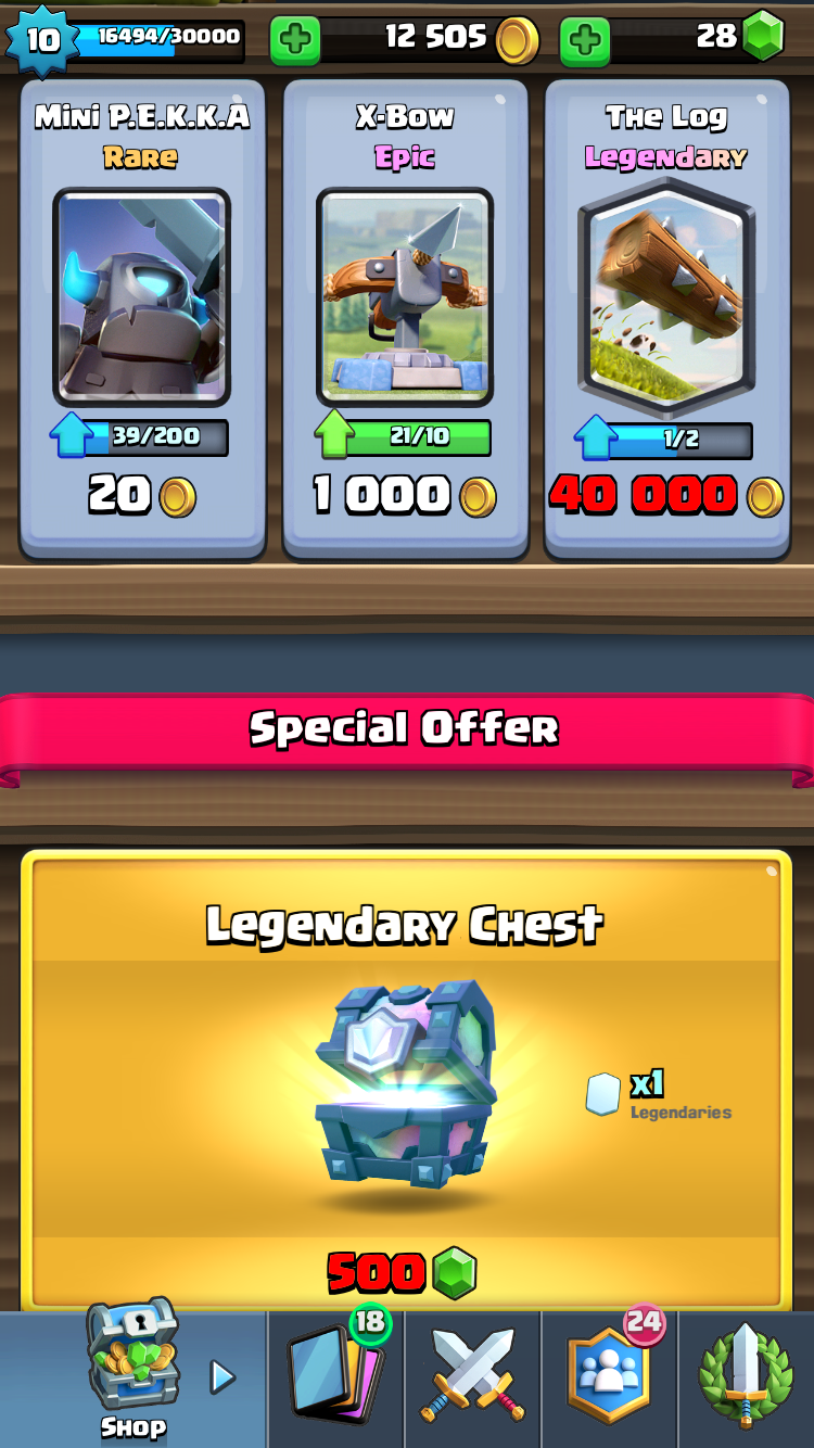 The Log and a legendary chest! | Clash Royale | Arcade games