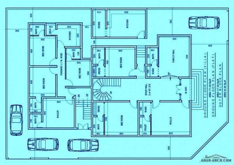 مخطط فيلا و شقق الارض كورنر بمساحة 600 متر Indian House Plans Luxury House Designs New House Plans
