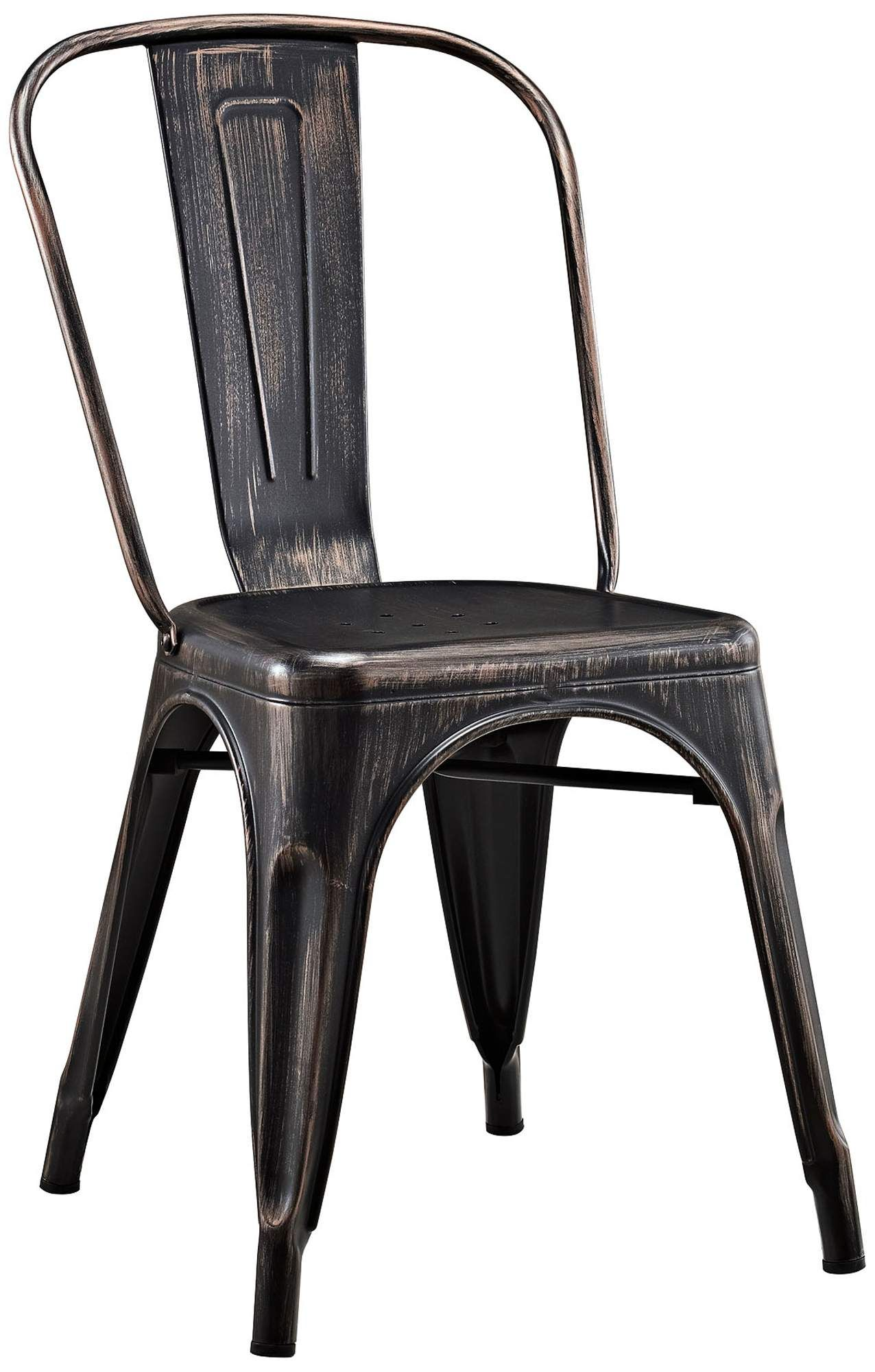 Seating  Glennon Antique Black Metal Cafe Chair in 9  Black