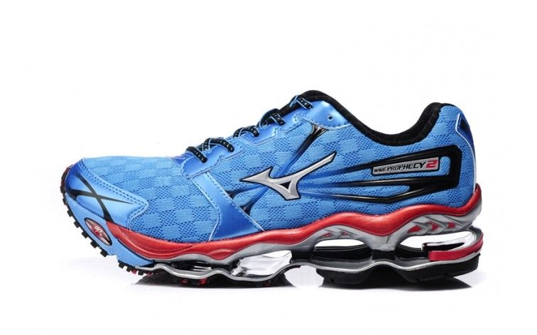 classic fit 7eacd 27893 Mizuno Mens Wave Prophecy 2 Running Shoes Sky Blue