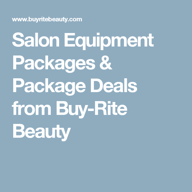 Salon Equipment Packages & Package Deals from Buy-Rite Beauty ...