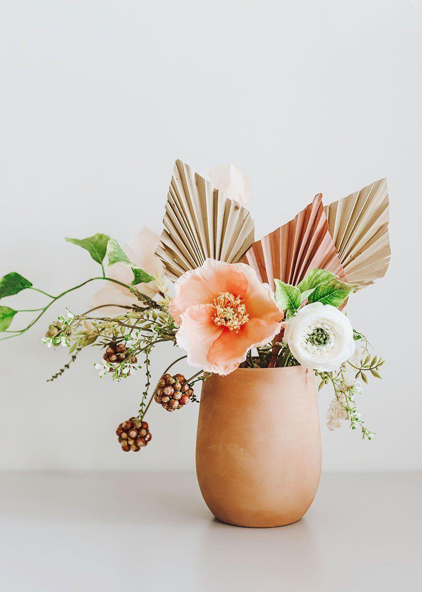 Affordable Terracotta Flower Arrangement In 2020 Terracotta Flower Pots Flower Decorations Flower Pots