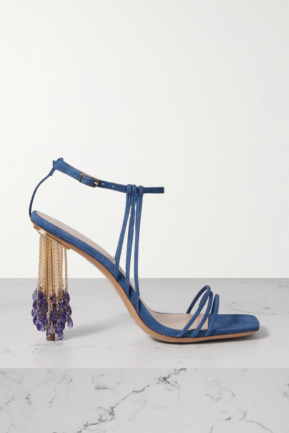 Blue Embellished suede sandals Jacquemus in 2020