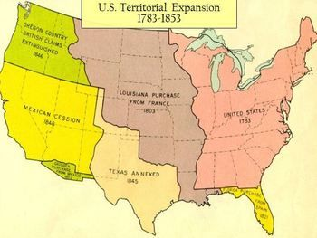 Territorial Expansion of The United States 1783-1853 Interactive PPT ...