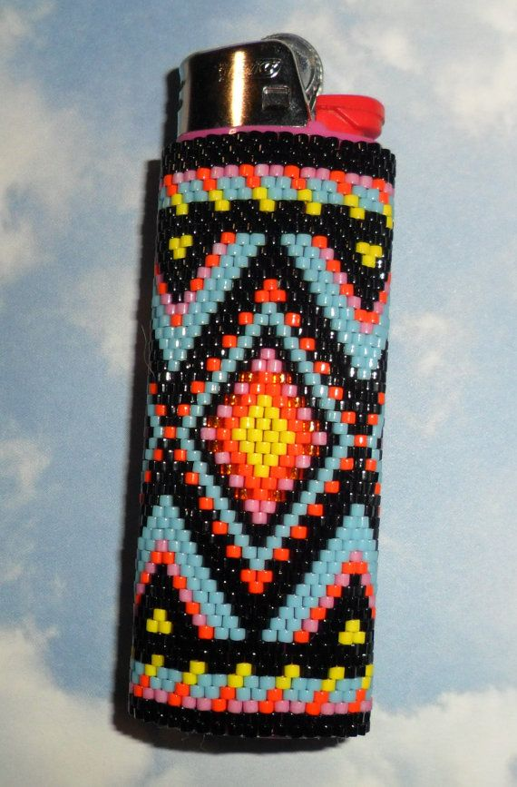 Yuma Beaded Lighter Cover by SoaringHawkTraders on Etsy