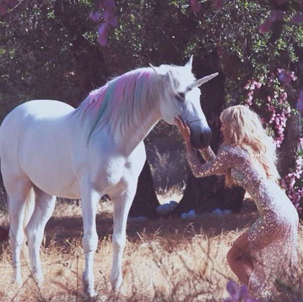 Paris Hilton Kissed A Unicorn, And She Liked It - Paris hilton, Unicorn pictures, Unicorns and mermaids, Unicorn, Horse life, Unicorn photos - Because Lisa Frank willed it, Paris Hilton's new video for  Come Alive  will feature rainbowhaired unicorns and princess everything  Check out the set photos!