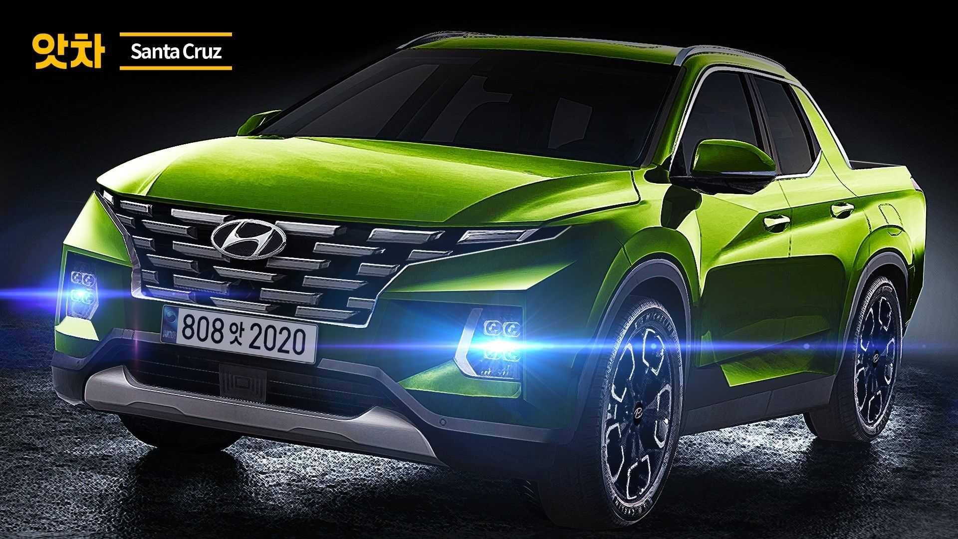 Using Our Latest Spy Shots Of The Hyundai Santa Cruz A Talented Artist Has Rendered The New Small Pickup Truck Ahead Of Its Reveal Later This Year