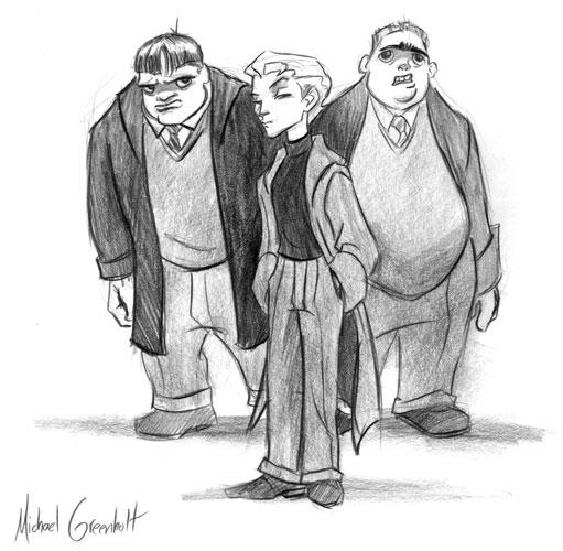 Malfoy Crabbe Goyle Harry Potter Fan Art Goyle Harry Potter Harry Potter Characters