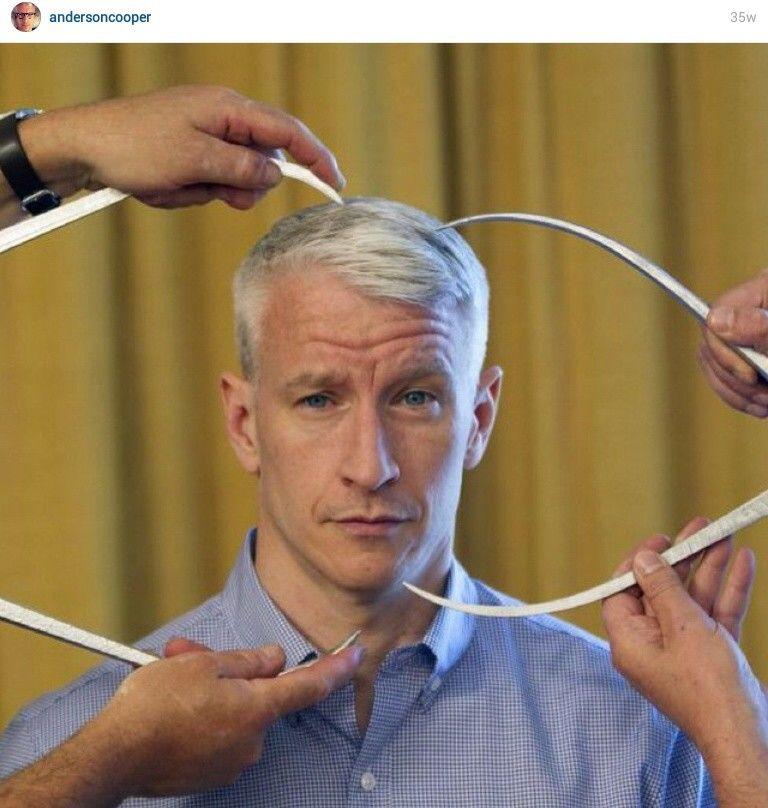 From Anderson Cooper's Instagram taken when being