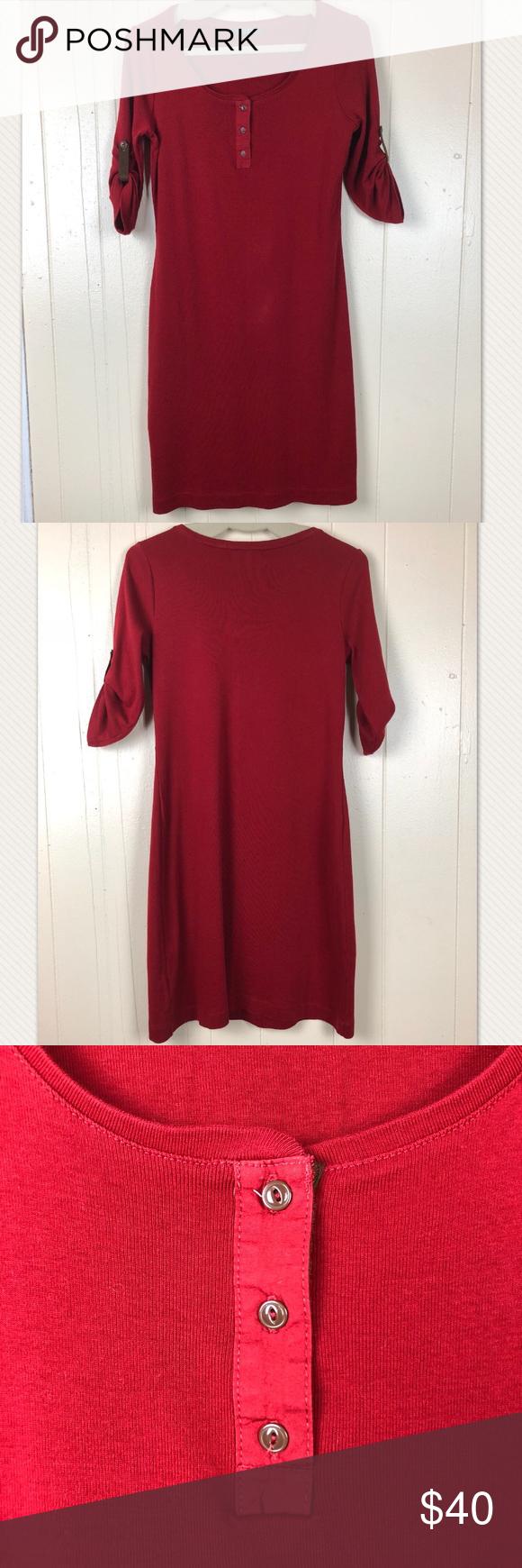 Ralph lauren red dress cotton stretch large dress necklines