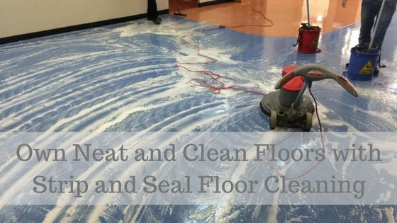 Own Neat And Clean Floors With Strip And Seal Floor Cleaning