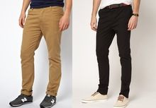 We have stocks for Mens Skinny Cotton Chino Trousers Pants