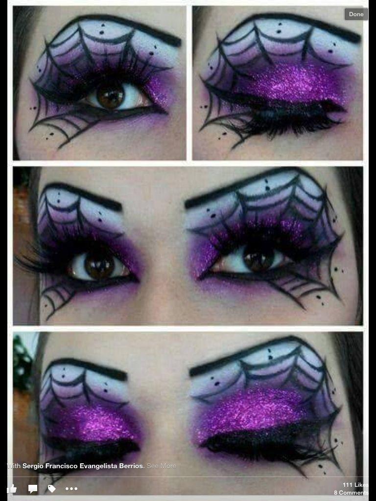 Spider Web Eye Make Up Horror Movies Creepy Shit Pinterest
