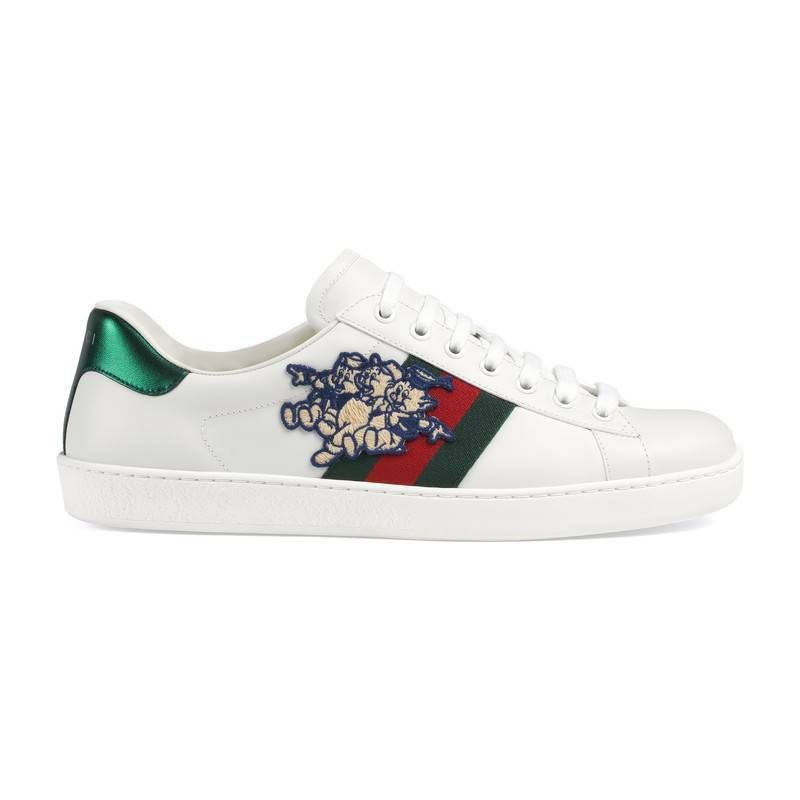 56fcdd74a170 GUCCI MEN'S ACE SNEAKER WITH THREE LITTLE PIGS. #gucci #shoes ...