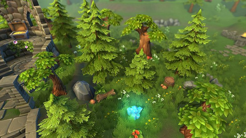 Lowpoly Forest Ruins - Asset Store